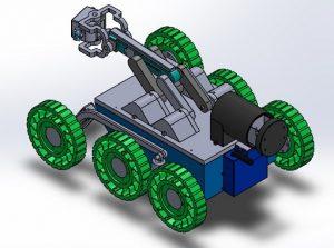 El robot se asemeja a un carro de 6 ruedas y su costo es mucho menor a los de su tipo en el mercado