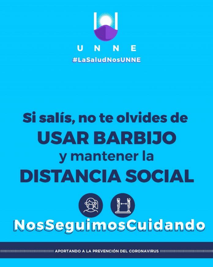 Afiche campaña UNNE Salud Covid-19