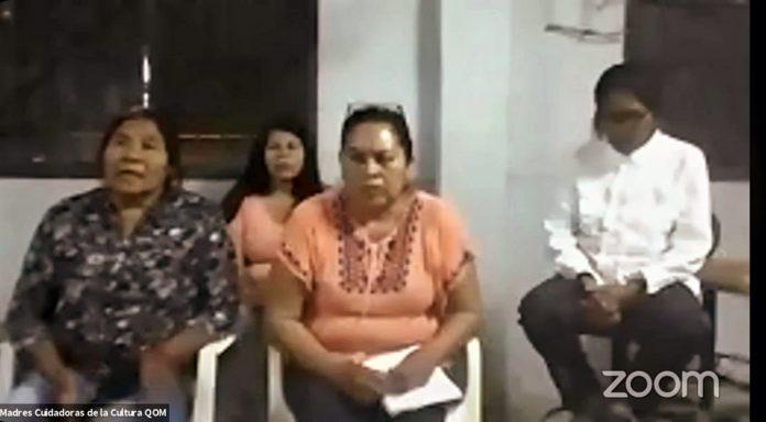 Madres Cuidadoras de la Cultura Qom participan del encuentro virtual