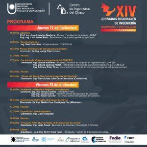 Programa de las Jornadas Regionales