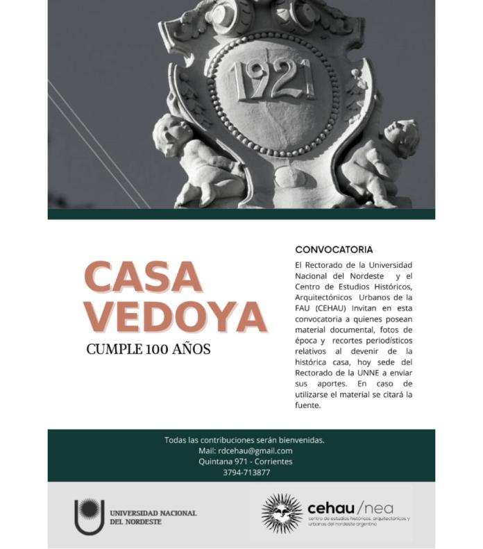 Convocatoria Casa Vedoya 100 años