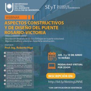 Webinar sobre Puente Rosario-Victoria