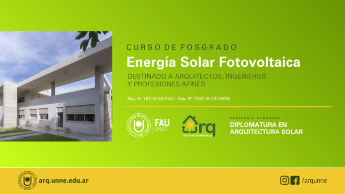 Curso de Posgrado: Energía Solar Fotovoltaica